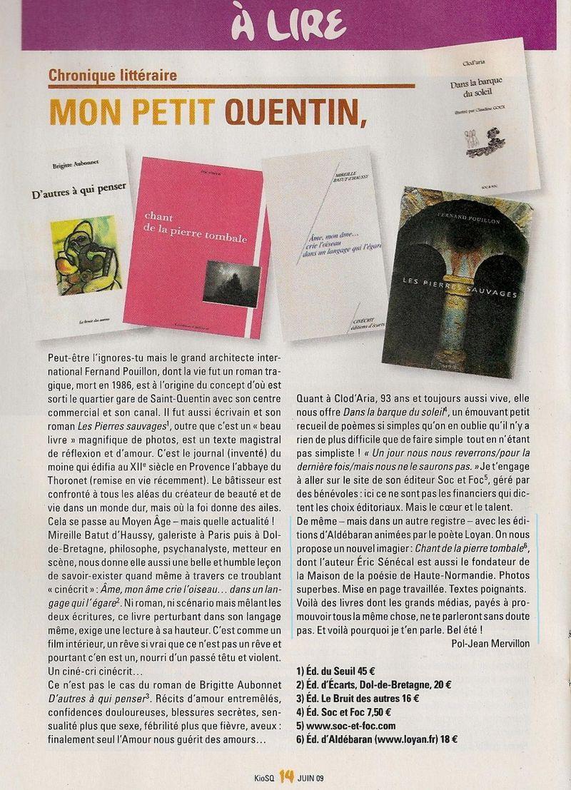 Revue Kiosq Saint Quentin en Yvelines juin 2009