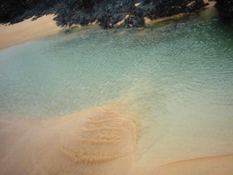 2005 Belle Ile plage du Donnant plongée sur étang sableux